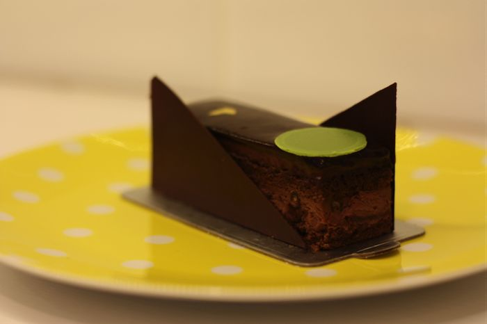 signature noir cake from another sweet place in central hong kong