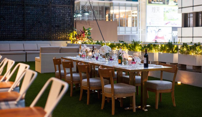 table setting at urban park hong kong