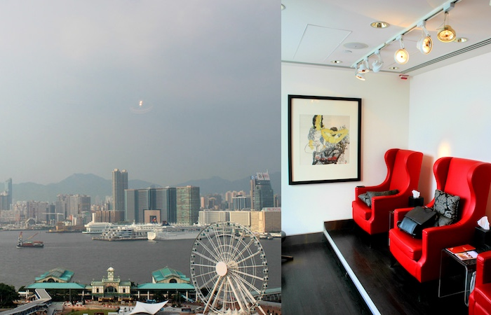 collage of the spa and view from the mandarin oriental spa