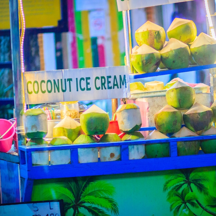 Coconut ice cream Thailand