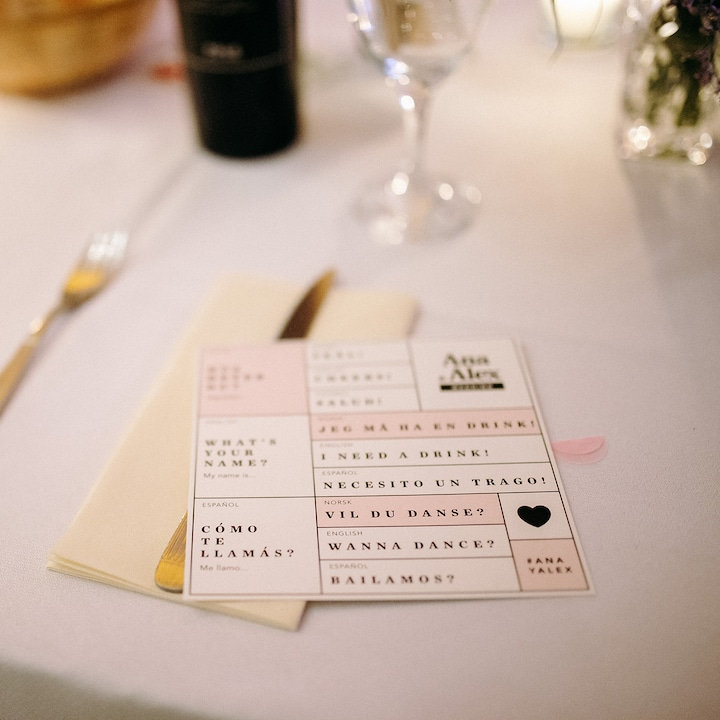 weddings that bride ana duje table signs